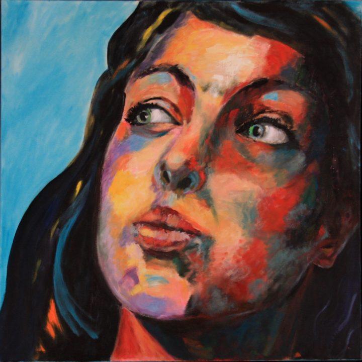 Claire - Huile sur toile - 125x30