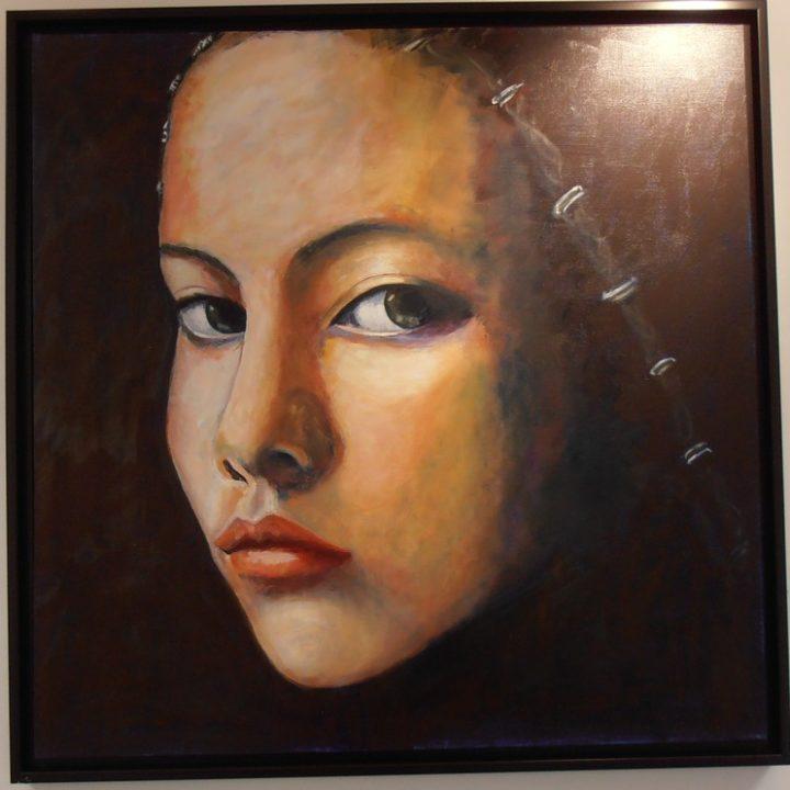 Clothilde - Huile sur toile - 125x125
